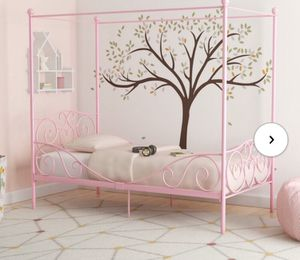 Girls Twin Size Canopy Bed for Sale in CANAVERAL AS, FL
