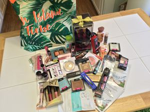 Huge Lot of Makeup by e.l.f., Milani, Wet n Wild, Ulta Beauty, No. 7, Juicy Couture Makeup Brush Set, & Ulta Beauty Tote - WOWZA, ALL BRAND NEW!! for Sale in Aurora, CO