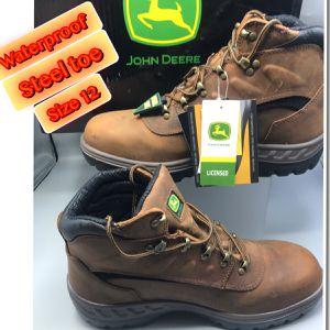 """John Deere JD3604 Mens 5 """" Waterprrof Steel Toe Tan Work Boots 12 for Sale in Tinton Falls, NJ"""