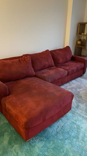 RED SECTIONAL/COUCH for Sale in Silver Spring, MD