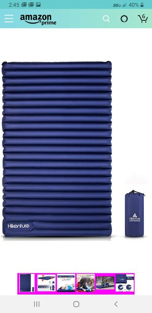 Hikenture Double Sleeping Pad - Inflatable Camping Air Mattress - Light and Compact - for Backpacking, Self-Driving Tour, Hiking, Tent for Sale in Las Vegas, NV