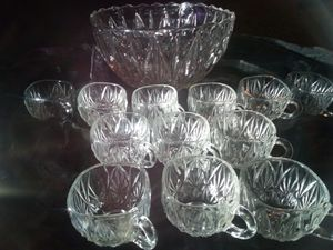Crystal Punchbowl and cups for Sale in Vancouver, WA