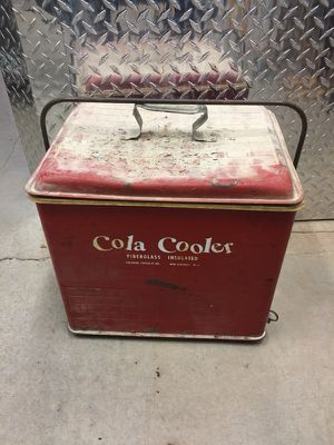 VTG 1950'S Poloron Products Fiberglass Insulated Cola Cooler Ice Chest for Sale in Sterling, VA