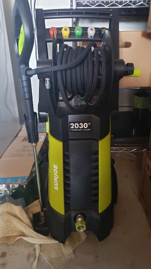 SUN JOE 2030 Max PSI 1.76 GPM 14.5 Amp Electric Pressure Washer with Hose Reel for Sale in Fairfield, NJ
