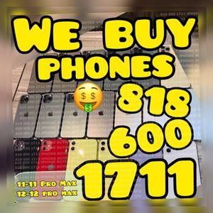 iPhone 12 pro max 12 mini 11 pro used phone xs max x 11 pro max iPad wifi+cellular macbook pro apple TV box for Sale in Los Angeles, CA