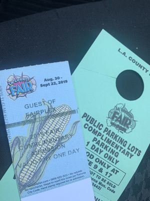 2 LA fair tickets with parking pass valid any day for Sale in Corona, CA