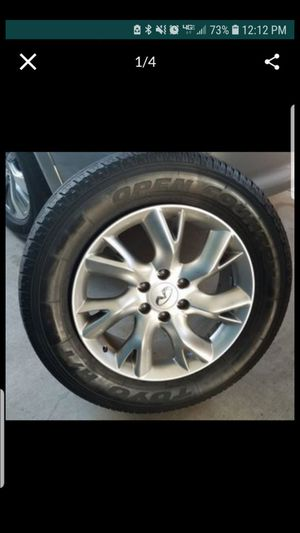 20 inch rims with used tires 150.00 for all 4 for Sale in Garden Grove, CA