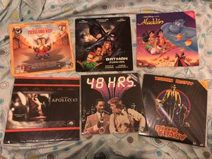 Laser Disc An American Tail, Batman Forever, Disney Aladdin, Apollo 13, 48 HRS and Dick Tracy for Sale in Brooklyn, NY