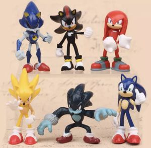 Sonic the hedgehog cake topper 6 pc toy figurine set for Sale in Miami, FL
