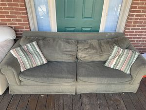 Two Cushion Couch - Fits 3 Easily for Sale in Blacksburg, VA