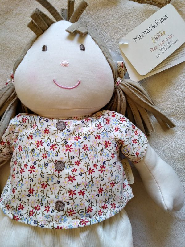 Mamas and Papas Rug Soft Doll. Baby Doll. Baby Toy. Soft Toy. Soft Doll.