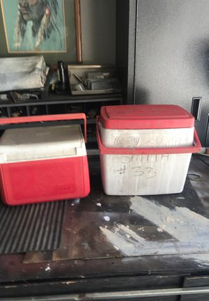 Two Coleman coolers $18 for Sale in Fountain Valley, CA