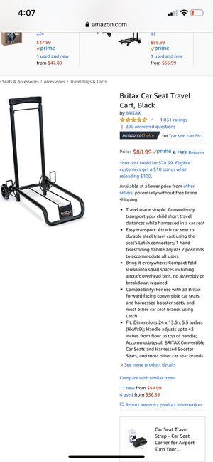 Britax car seat travel cart for Sale in Norfolk, VA