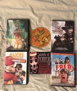 ONE CD📀AND FIVE DVDS🎥 for Sale in Oak Lawn, IL