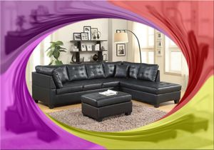 New black leather like sectional for Sale in Takoma Park, MD