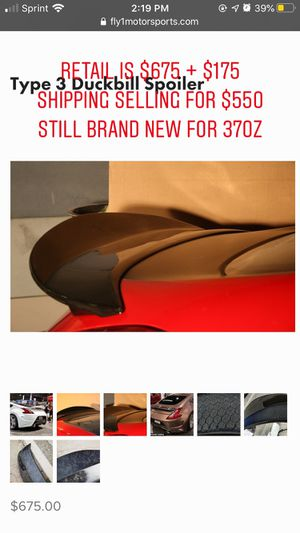 370z Carbon Fiber Duckbill spoiler fly1motorsport for Sale in Queens, NY