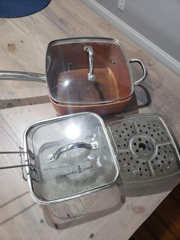 Copper chef square pot/pan
