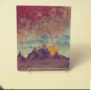 Original Fantasy Painting, The Crayola Mountains for Sale in Delta, CO