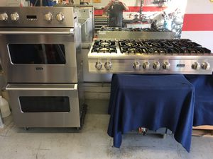 Viking Appliance Set Rangetop & Double Oven - thermador wolf cooktop for Sale in Corona, CA