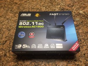 Asus Wireless-AC1900 Router (Practically Brand New, Originally $150) for Sale in Downey, CA