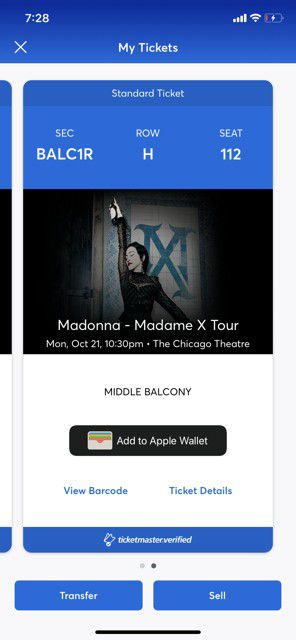 Madonna Madame X Tickets Chicago Theatre for Sale in Northbrook, IL