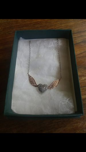 Zales diamond, rose gold, and sterling silver necklace for Sale in Salt Lake City, UT