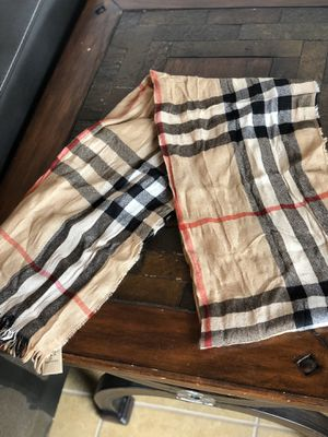 100% Authentic Burberry Classic Check Scarf for Sale in Tamarac, FL