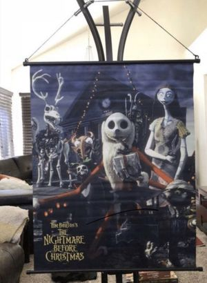 """NECA ORIGINAL The Nightmare Before Christmas 27"""" x 34"""" Fabric Wall Scroll Poster LIMITED EDITION RARE DISCONTINUED - BULK LOT WHOLESALE - HALLOWEEN for Sale in Fontana, CA"""