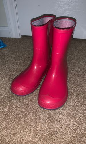 Pink rain boots for Sale in Fayetteville, NC