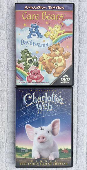 Care Bears & Charlotte's Web DVD Bundle for Sale in Fresno, CA