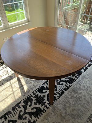 Solid Wood Dining Set with Chairs for Sale in Arlington Heights, IL