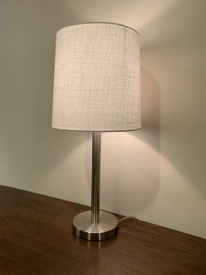 White & silver 3 way touch lamp for Sale in Los Angeles, CA
