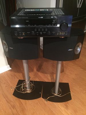 Bose 301 Speakers, Yamaha Receiver, Speakers stands, and speaker wire/connectors for Sale in Sterling, VA