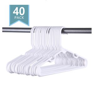 40 Premium Small Plastic Hangers Kids Clothing for Sale in La Puente, CA