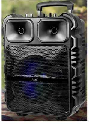 """New 12"""" Portable Bluetooth speaker with wireless mic, aux, usb, fm radio, remote control for Sale in Riverside, CA"""