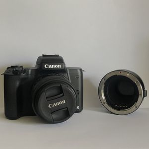 Canon M50 with kit lens and EF/S mount adapter for Sale in Seattle, WA