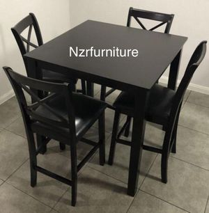 (BRAND NEW) 5-PC Pub Height Espresso Breakfast Kitchen Dining Table for Sale in Austin, TX