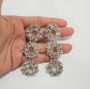 Cz diamond earrings drop dangles silver for Sale in Austin, TX
