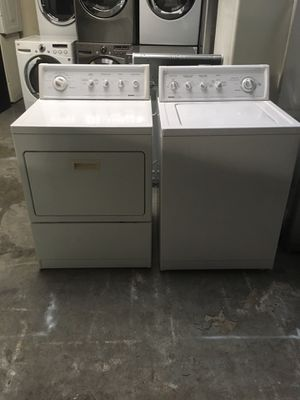 Set washer and dryer brand kenmore gas dryer everything is good working condition 90 days warranty delivery and installation for Sale in San Leandro, CA