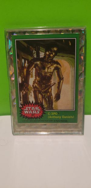Star Wars C-3PO Anthony Daniels Repro Novelty Trading Card in Holographic Holder for Sale in Denver, PA