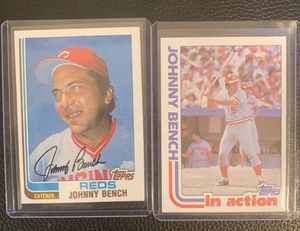 1982 Topps Johnny Bench baseball cards for Sale in Hayward, CA