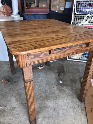 Walnut wood table and chairs- antique for Sale in Portland, OR