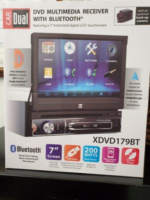"NEW STEREO DVD MULTIMEDIA RECEIVER,BLUETOOTH,MONITOR 7""LCD TOUCH SCREEN COLOR,MICROPHONE,NAVIGATION APP,BACKUP CAMARA ADAPTER for Sale in Kissimmee, FL"