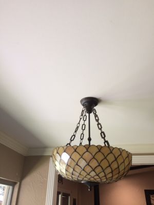 Stained glass pendant light for Sale in Richardson, TX
