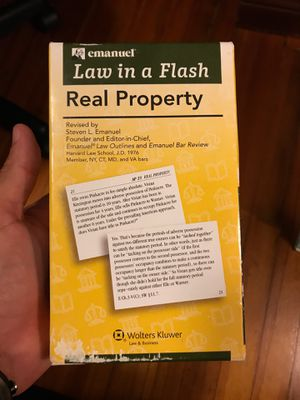 Law in a Flash, Real Property - Flash Cards for Sale in Miami, FL