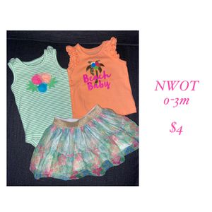 Summer baby girl outfit set for Sale in Wilsonville, OR