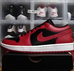 New* 2020 Air JORDAN 1 Low Gym Red Black-White BRED MENS Size 8.5 9.5 US - DS OG All for Sale in Everett,  WA