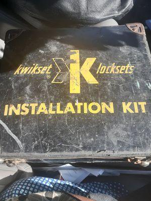 Vintage kwikset installation kit for Sale in Wichita, KS