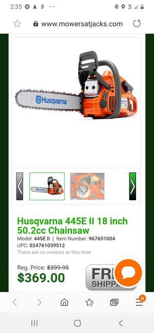 Husqvarna 445 chainsaw for Sale in Monroe, NC