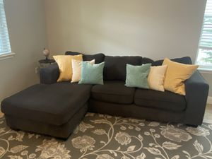 3 seat charcoal grey sectional couch for Sale in Windermere, FL
